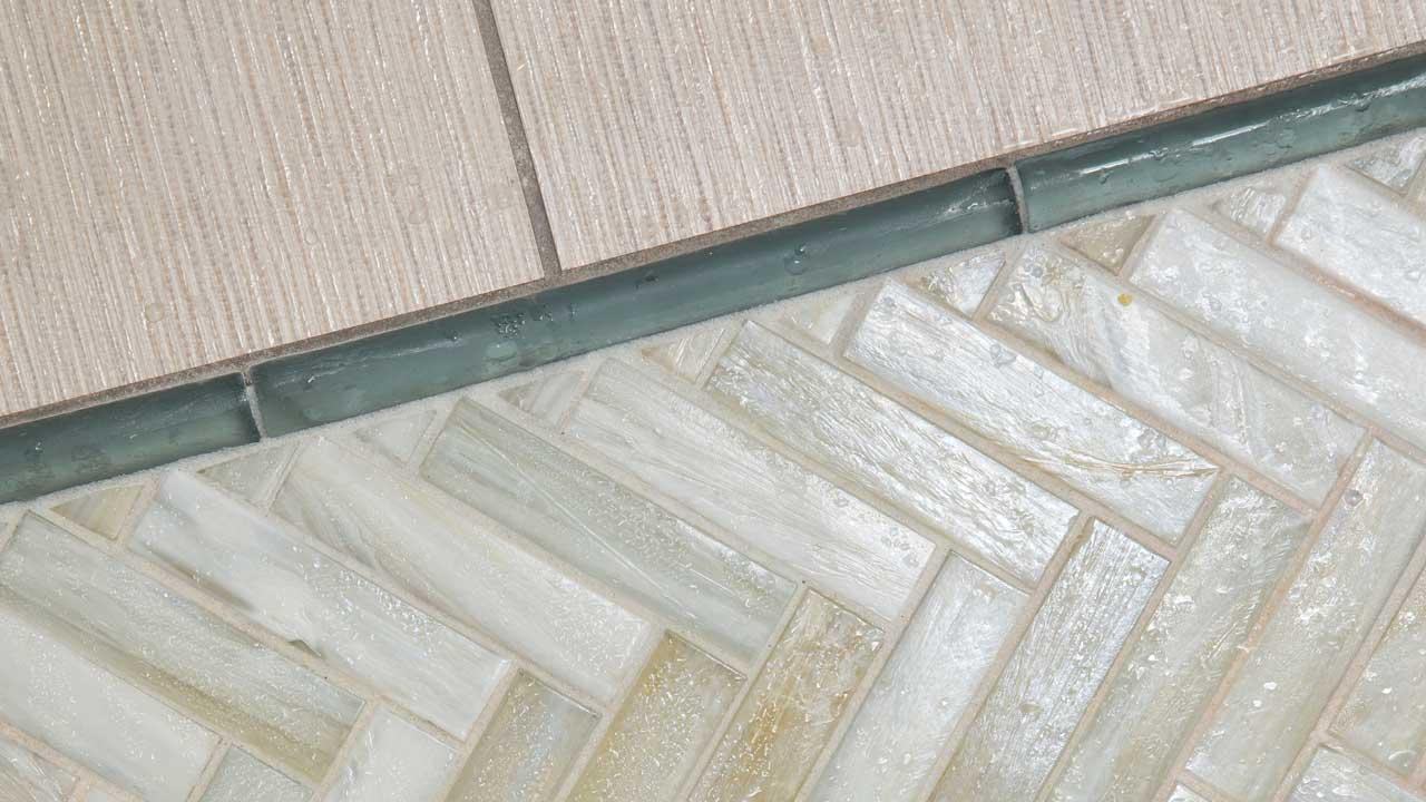 bathroom runner tile